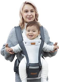 抱っこ紐 besrey 抱っこひも おんぶ可 新生児 軽量 通気 男女兼用 装着簡単 ウエストキャリー分離可 腰ベルト 調整可 0-36ヶ月