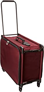 TUTTO 24 Inch Small Pullman With Garment Bag, Burgundy, One Size