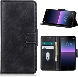 Hongxinyu Sony Xperia 10 II Case, Retro Wallet Folio Flip Leather Magnetic Buckle Slim Back Cover Built-in Card Holder Slo...