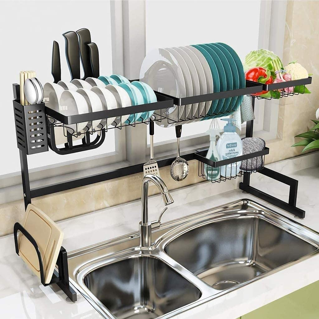 Racks Storage 304 Attention brand Stainless Steel Drain All items free shipping Rack Shelve Kitchen Sink