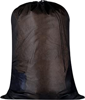 Large Heavy Duty Mesh Laundry Bags-24 x 36 inches,Dirty Clothes Wash Bag,Durable Drawstring Bag with Black Mesh Material,I...