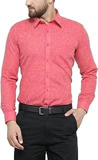 Jay & u Men's Cotton Linen Blend Formal Shirt