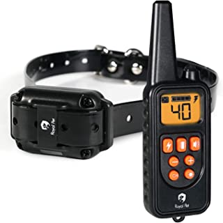Royal Pet Dog Training Collar – Waterproof Dog shock collar with Remote – Long range 2400 ft, Light, Beep, Vibrate & Shock Training Modes. Ecollar for Small, Medium, & Large Dogs.