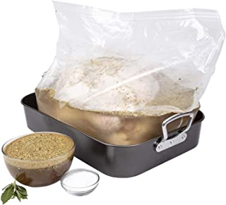 Good Cooking Turkey Brine Kit for up to 25 Lbs Turkey - Includes Extra Large Double-Sealed Brining Bag, Brine Seasoning Pa...