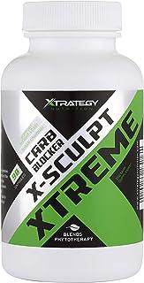 CARB Blocker X-Sculpt Xtreme XTRATEGY Nutrition Natural Blend Chromium, CHITOSAN, GYMNEMA Leaf Powder, White Kidney Beans ...