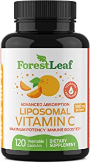 Natural Liposomal Vitamin C Immune System Booster 1000mg - with MCT Oil and Sunflower Lecithin - Maximum Potency - Dry Lip...