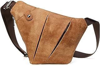 (JOYIR) 本革 牛革 ボディバッグ ワンショルダー メンズ レザー おしゃれ 斜めがけ 軽量 通勤 旅行 通学 大容量