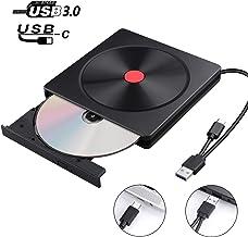 Lecteur DVD Externe, USB 3.0 & Type C, AMIGIK Graveur CD Externe, Enregistreur..