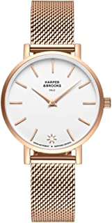 Harper and Brooks Saga Watches for Women Mesh Strap Rose Gold Color 32mm