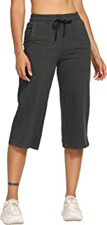 "CQC Women's Active Yoga Lounge Bermuda Shorts Athletic Workout Running Pants 5""/10""/19"" with Pockets"