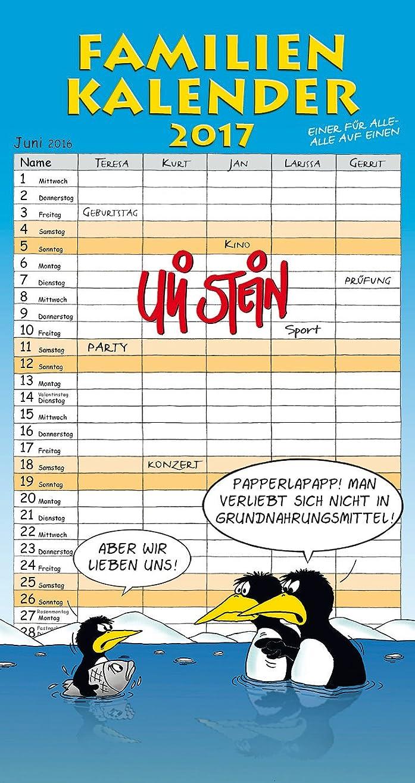 バッグ迫害退屈Familienkalender 2017: Wandkalender