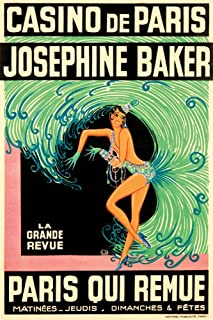 France - Josephine Baker - Casino de Paris Qui Remue - (artist: Zig Louis Gaudin c. 1930) - Vintage Advertisement (16x24 Giclee Gallery Print, Wall Decor Travel Poster)