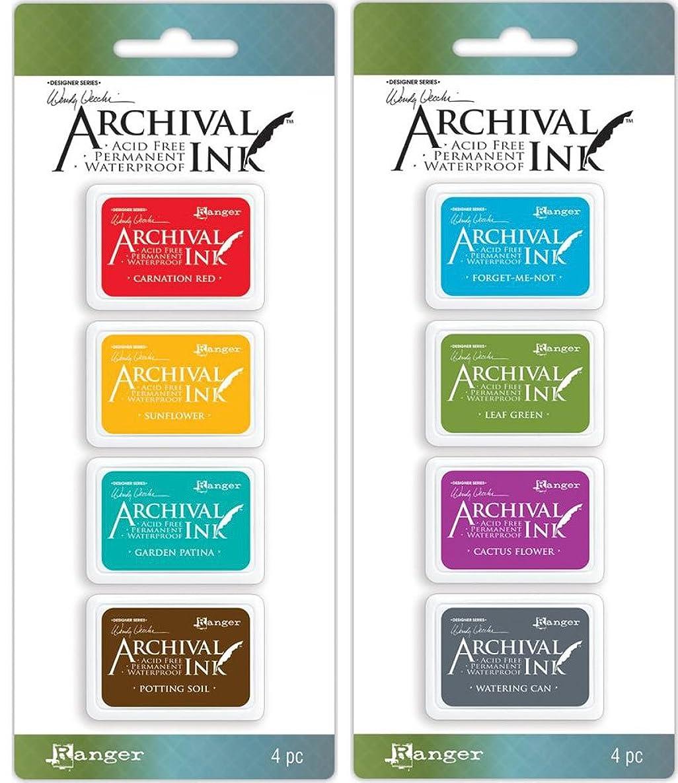 Wendy Vecchi Mini Archival Ink Pads - 2 Item Bundle - Sets No. 1 and 2