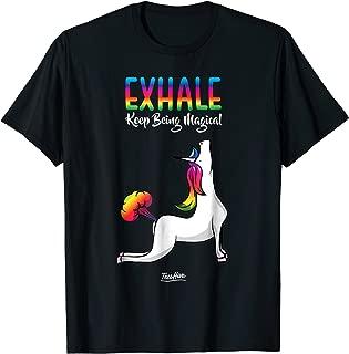 Unicorn Yoga Unicorn Farting Funny Unicorn Exhale T Shirt