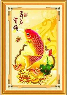 Fish M1Y Chinese Cross Stitch Needlework Set Embroider Kits 3D Cross-Stitch Printed Pattern Cotton Silk Thread Cheap for Sale,Silk,11Ct