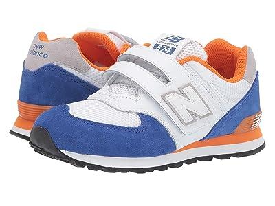New Balance Kids 574 Summer Sport (Little Kid/Big Kid) (Team Royal/Varsity Orange) Boys Shoes