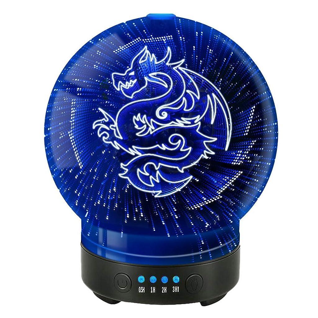 カウボーイ数値スリーブPOLENNON Dragon Ultrasonic Cool Mist Humidifier Aroma Essential Oil Diffuser 100ml Colorful 141[並行輸入]
