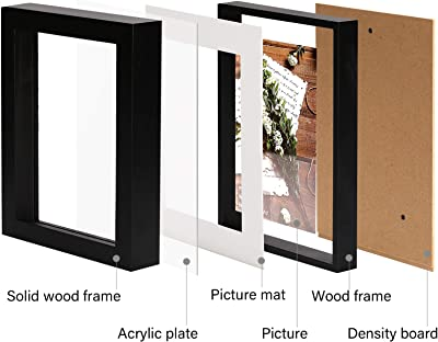 """If with mat,Not Include 12 etc. Medog 13/""""x13/"""" Square Record Album Black Picture Poster Frame PFSQ 13 BA 12.5x12.5 Outer Size 13.81x13.81 Wall and Table top Picture Frames Without mat 13x13"""