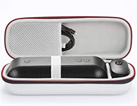 for Apple Dr. Dre Beats Pill+ Pill Plus Bluetooth Portable Wireless Speaker Hard Case Travel Carrying Storage Bag. Fits USB Cable and Wall Charger-Silver