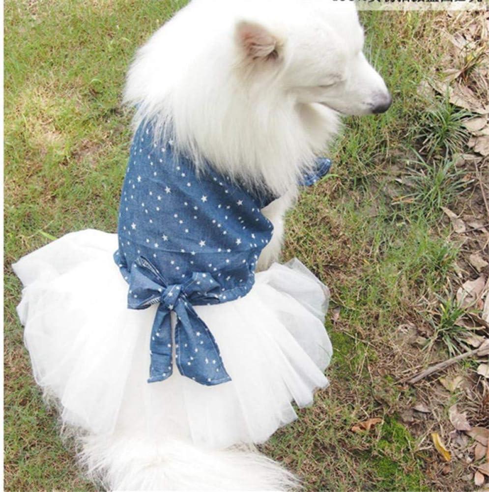 Low price RQJOPE Pet Clothes Dog High order Large Dress Cl Summer Big