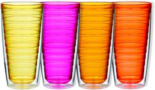 Boston Warehouse 16-Ounce Insulated New Tumblers 24-Ounce Sunset Collection 24 oz Pink/Orange