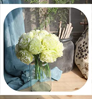 Memoirs- Artificial Flower Peony Silk Peonies Christmas Wedding Party Decorative Fake Flower Autumn Flower Fall Decoration for Home,Green
