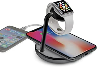 Kanex GoPower Watch Charging Stand with Wireless QI Certified Charging Base and USB Port for iPhone