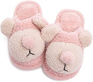 Boys Girls House Slippers Cute Doggy Plush Fluffy Winter Warm Shoes Memory Foam Comfy Home Slippers (Toddler/Little Kids)