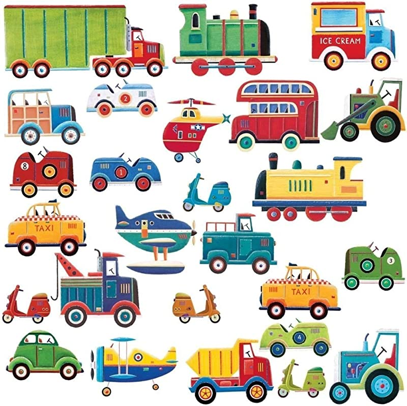 Lunarland CARS TRUCKS 26 Wall Stickers Decor Decals Room Decor Nursery Planes Tractor NEW