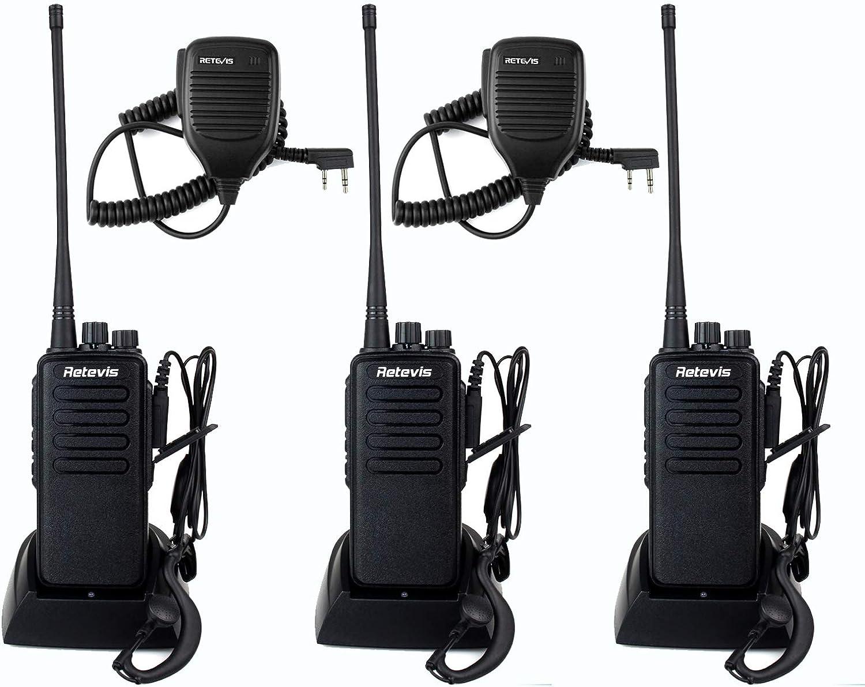Retevis RT1 デポー Two Way Radios Shock Resista Range ストア Rechargeable Long