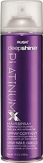 RUSK Deepshine PlatinumX Hairspray, 10 oz.