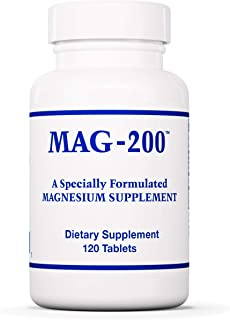 Optimox MAG-200 - Magnesium Supplement with Para-Aminobenzoic Acid (PABA) - 120 Tablets
