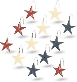 Interior Trends 12 Piece Set of Decorative Shower Curtain Hooks (Texas Star)
