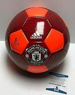 Anthony Martial & Jose Mourinho Autographed Signed Memorabilia Manchester United Soccer Ball Bas E51733 - Certified Authentic