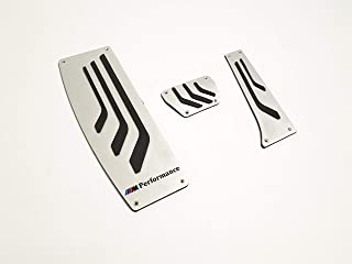 kit-car M Performance Style – Pedal Pads Pedals Trim Metal Covers – for BMW F30 3 Series – Set 3 pcs