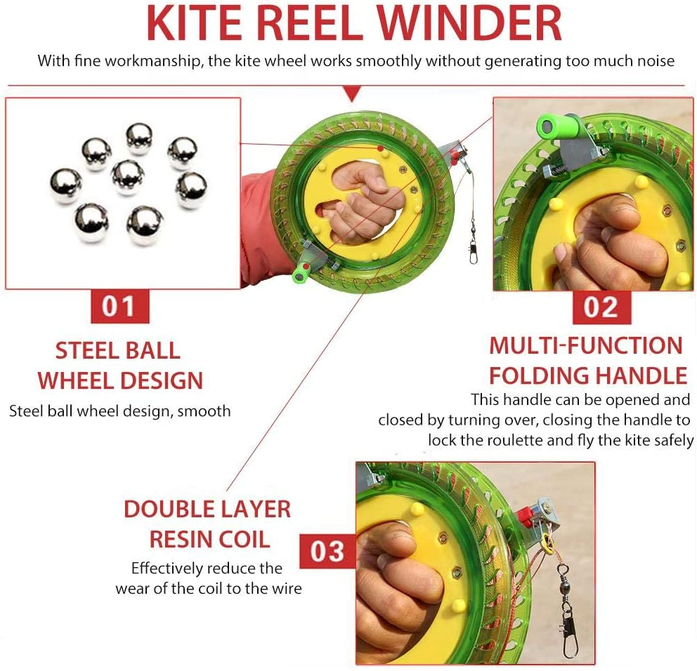 Toys & Games Sports & Outdoor Play Kite Line Winder Winding Reel ...