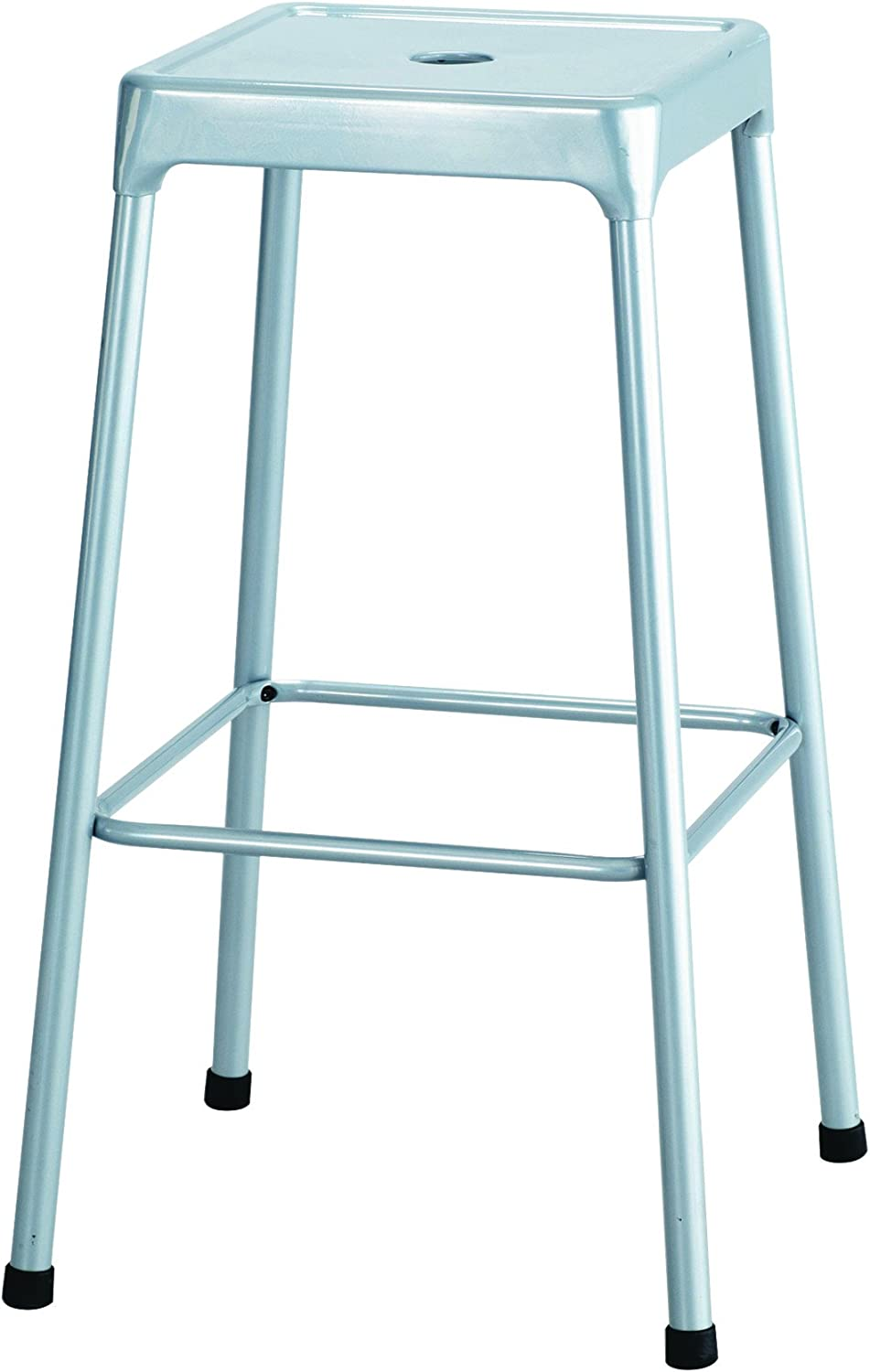 Safco Products 6606SL Bar Height Stool, 29 , Silver