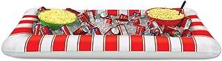 Beistle enfriador de rayas inflable bufé, 28por 53/4-inch, rojo/blanco