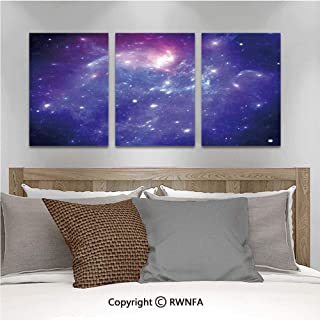 3Pc Creative Wall Stickers Nebula Gas Cloud of Dust Spiral Expanse Planet Galaxy System Milky Way Home Decor Bedroom Kids Room Nursery Dinning Wall Decals Removable Art Murals,19.7
