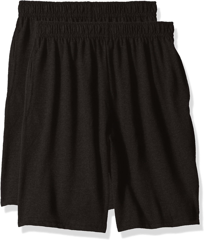 Hanes Big Boys Jersey Short (Pack of 2)