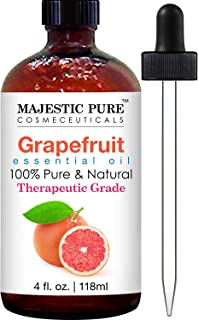 Majestic Pure Grapefruit Essential Oil, Pure and Natural, Therapeutic Grade Grapefruit Oil, 4 fl. oz.
