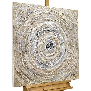 Acryl Gemälde /'SHOWER OF CRYSTALS/'HANDGEMALTLeinwand Bilder  80x80