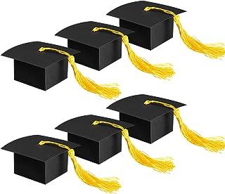 Yaomiao 100 Sets Graduation Hat Shape Goodies Box with Tassel Graduation Gift Treat Boxes for Graduation Party Favors