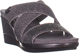 Anne Klein Womens Polly Fabric Open Toe Casual Platform Sandals US