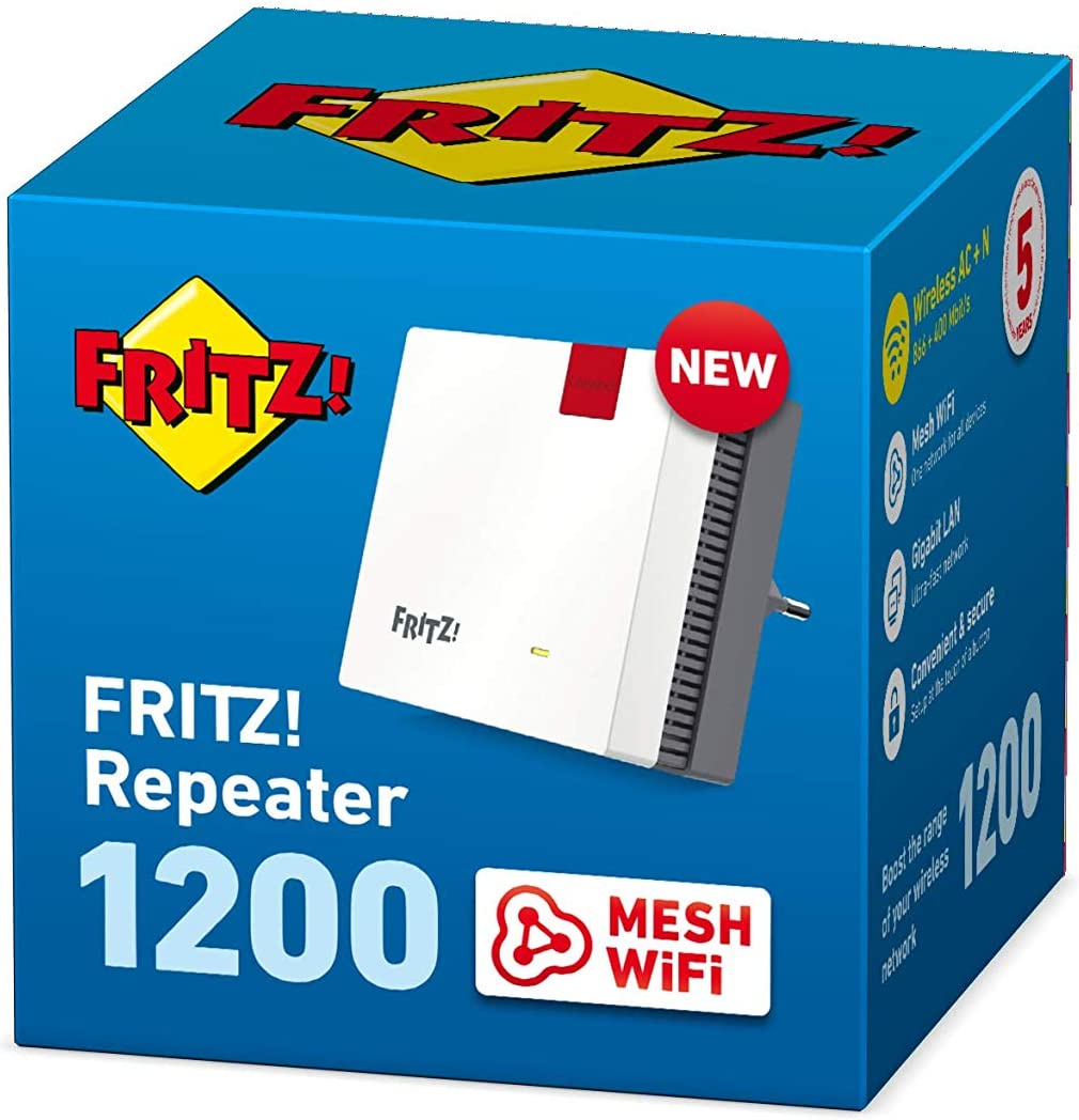 AVM FritzRepeater 20 International WLAN Repeater/Extender N+AC ...