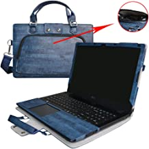 Aspire E 15 Case,2 in 1 Accurately Designed Protective PU Leather Cover + Portable Carrying Bag For 15.6