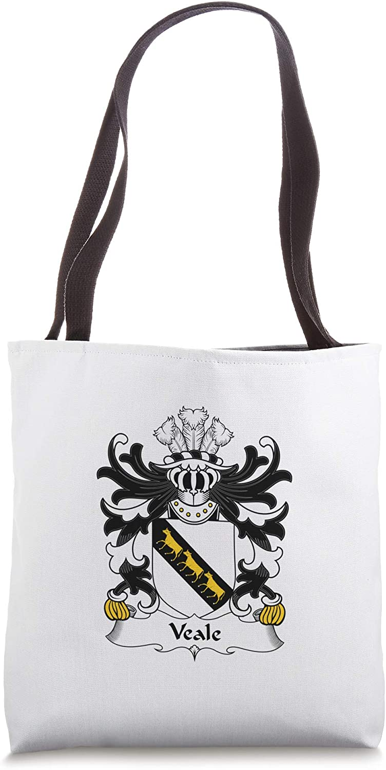 Veale Coat of Arms - Family Crest Tote Bag