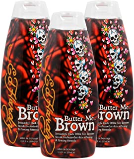 3 Ed Hardy Butter Me Brown Tanning DHA & Streak Free Bronzing Cream Lotion 10 Oz by Ed Hardy