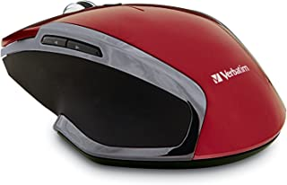 Verbatim Verbatim Wireless Notebook 6-Button Deluxe Blue LED Mouse, Red 99018