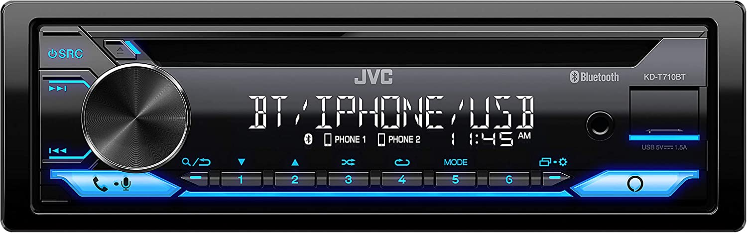 JVC KD-T710BT - CD Car Popular brand Stereo Audio Din Single H and Financial sales sale Bluetooth